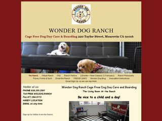 Wonder Dog Ranch | Boarding