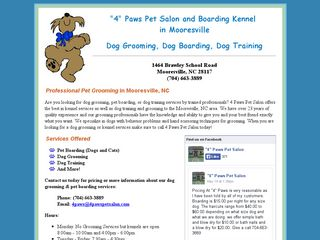 4 Paws Pet Salon | Boarding