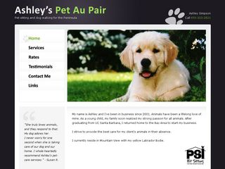 Ashleys Pet Au Pair Mountain View