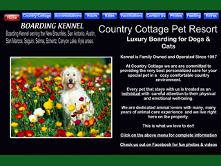 Country Cottage Pet Resort New Braunfels