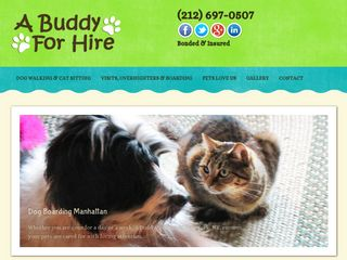 A Buddy for Hire Dog Walkers/Pet Sitters NYC | Boarding