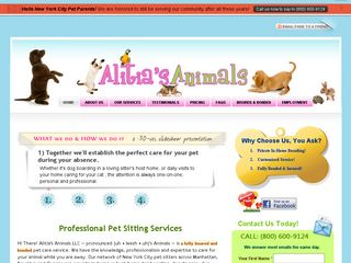Alitias Animals | Boarding