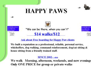 Happy Paws Dog Walking Service | Boarding
