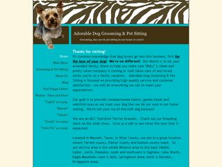 Adorable Dog Grooming   Pet Sitting | Boarding