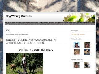 Dog Walking Service North Bethesda