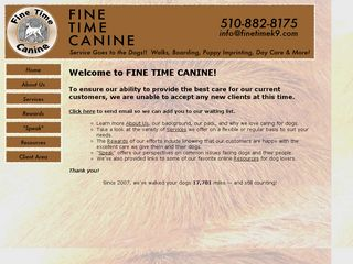 Fine Time Canine | Boarding