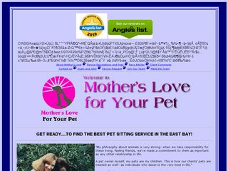 Mothers Love For Your Pet | Boarding