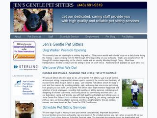 Jens Gentle Pet Sitters LLC Odenton