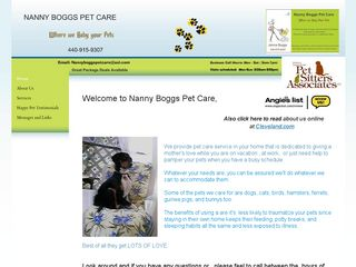 Nanny Boggs Pet Care Olmsted Falls