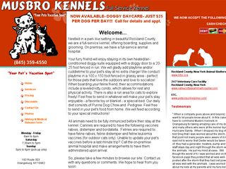 Musbro Kennels Ranch House Incorporated | Boarding