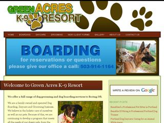 Green Acres K9 Resort | Boarding