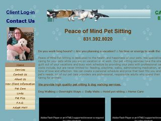 Peace of Mind Pet Sitting Pacific Grove
