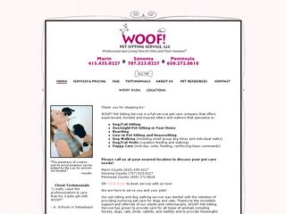 WOOF! Pet Sitting Service LLC Palo Alto