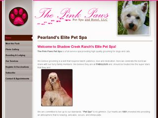Pink Paws Pet Spa | Boarding