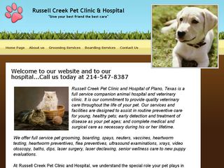 Russell Creek Pet Clinic | Boarding