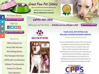 Great Paw Pet Sitters Plano