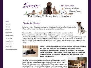 Serene Pet Sitting & Home Watch Services Pottstown