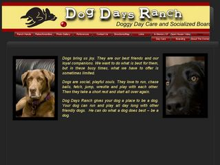 Dog Days Ranch | Boarding
