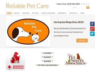 Reliable Pet Care  | Boarding