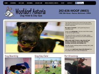 Woofdog Astoria Dog Hotel & Day Spa Racine