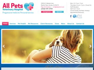 All Pets Veterinary Hospital Rancho Palos Ver