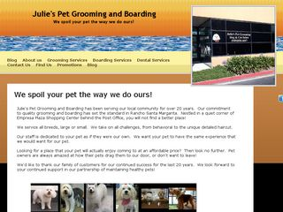 Julie's Pet Grooming and Boarding Rancho Santa Mar
