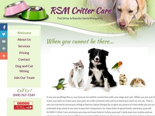 RSM Critter Care Rancho Santa Marga