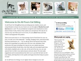 On All Fours Cat Sitting | Boarding