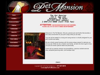 The Pet Mansion Roanoke