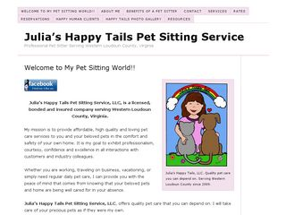 Julias Happy Tails Pet Sitting Service | Boarding