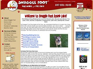Snaggle Foot Dog Walks and Pet Care Round Lake Beach