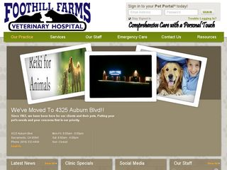 Foothill Farms Veterinary Hospital | Boarding