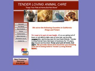 Tender Loving Animal Care | Boarding