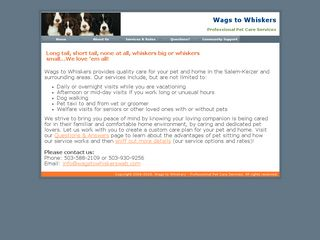 Wags to Whiskers Salem
