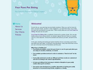Four Paws Pet Sitting San Antonio