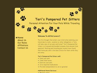 Teri's Pampered Pet Sitters | Boarding