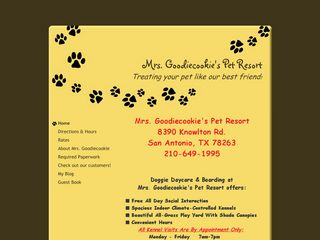 Mrs. Goodiecookies Pet Resort San Antonio