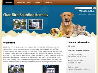 Char Rich Boarding Kennels San Antonio