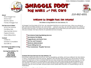 Snagglefoot Dog Walks  Pet Care San Antonio