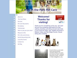 A Walk in the Park Pet Care  | Boarding