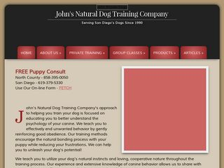 Johns Natural Dog Training Company | Boarding