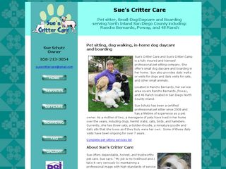 Sues Critter Care | Boarding