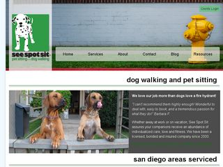 See Spot Sit pet sitting...dog walking San Diego