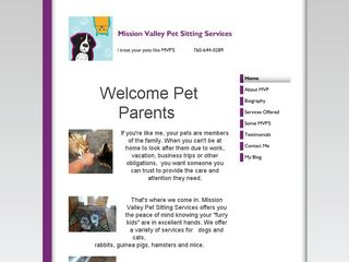 Mission Valley Pet SItting San Diego