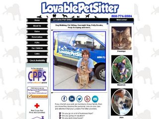 Lovable Pet Sitter Inc   Pet Sitter Dog Walker Po San Diego