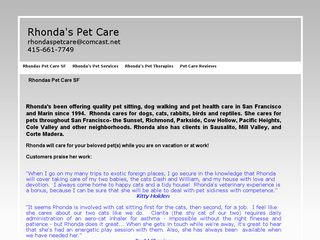 Rhondas Pet Care San Francisco
