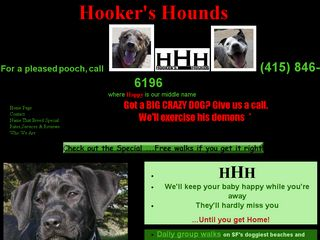 Hookers Hounds | Boarding