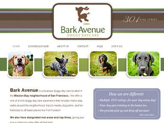 Bark Avenue Doggy Day Care San Francisco