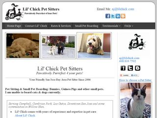 Lil Chick Pet Sitters | Boarding