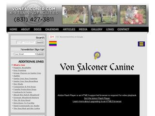 Von Falconer K 9 Training | Boarding